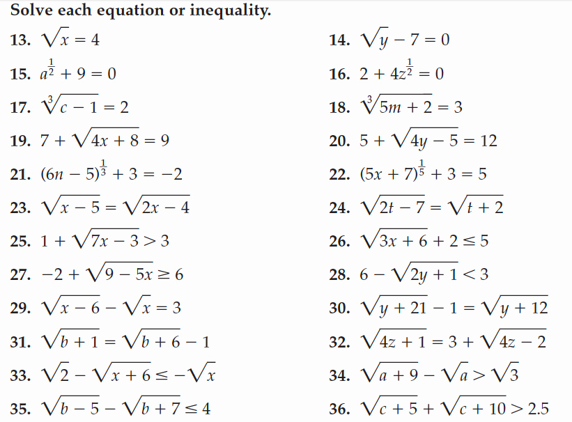 Solving Radical Equations Worksheet Elegant solving Radical Equations Worksheet Key Tessshebaylo