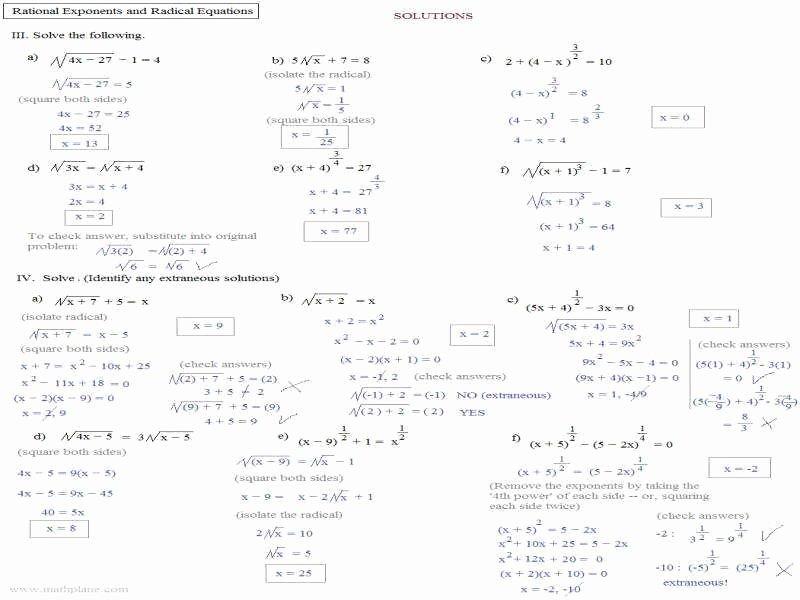 Solving Radical Equations Worksheet Fresh Radical Equations Worksheet