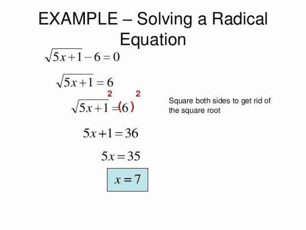 Solving Radical Equations Worksheet Lovely solving Radical Equations Worksheet