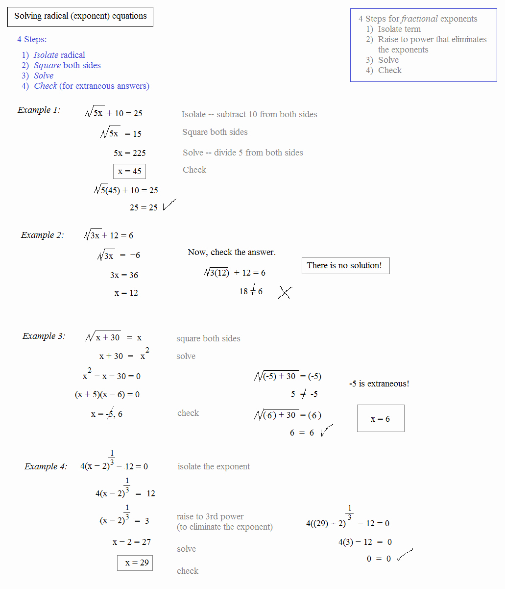 Solving Radical Equations Worksheet Luxury Math Plane Rational Exponents and Radical Equations