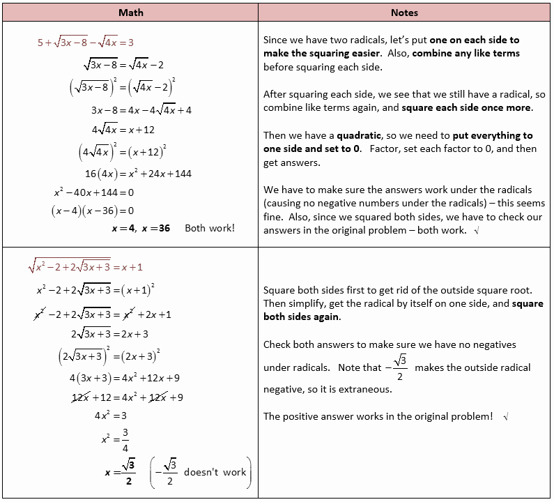 Solving Radical Equations Worksheet Unique solving Radical Equations and Inequalities – She Loves Math