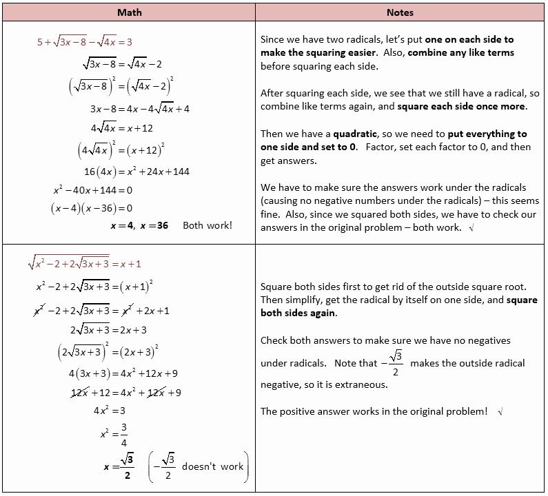Solving Radical Equations Worksheet Unique solving Radical Equations and Inequalities – She Loves Math