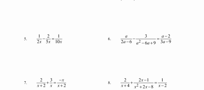 Solving Rational Inequalities Worksheet Best Of solving Rational Equations and Inequalities – Precalculus