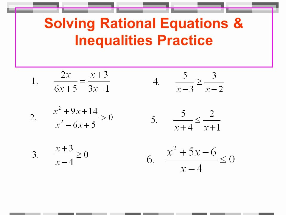 Solving Rational Inequalities Worksheet Inspirational Equations and Inequalities Quiz Answers Tessshebaylo