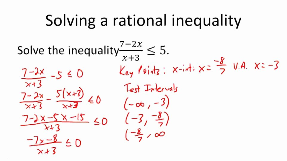 Solving Rational Inequalities Worksheet Lovely Rational Inequalities Worksheet Bluegreenish