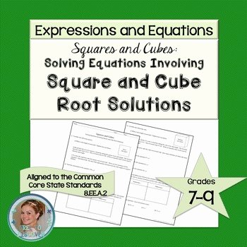 Solving Square Root Equations Worksheet Beautiful solving Equations Involving Square and Cube Root solutions