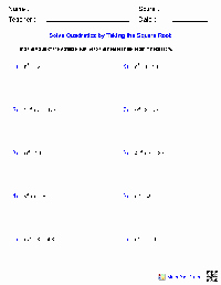 Solving Square Root Equations Worksheet Best Of 13 Best Of First Grade Printable Worksheets for