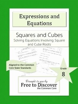 Solving Square Root Equations Worksheet Elegant solving Equations Involving Square and Cube Root solutions