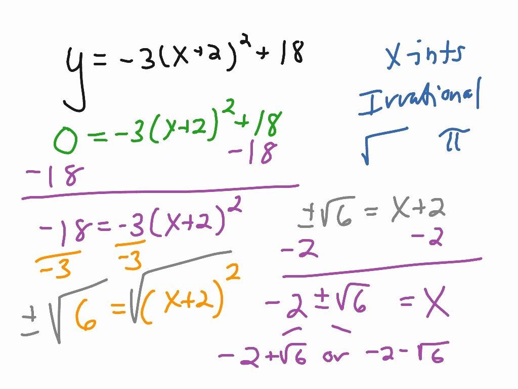 Solving Square Root Equations Worksheet Fresh solving Quadratic Equations Using Square Roots Calculator