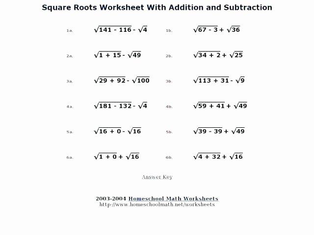 Solving Square Root Equations Worksheet Inspirational Basic Math Properties Worksheets