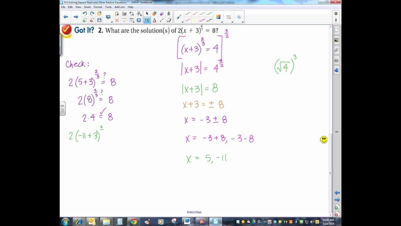 Solving Square Root Equations Worksheet Inspirational solving Square Root and Other Radical Equations Worksheet