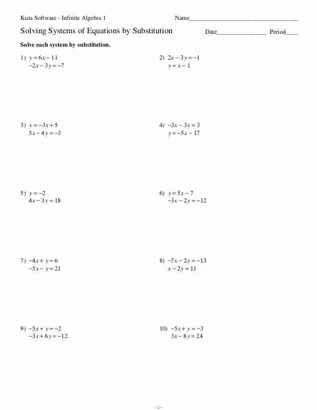 Solving Systems by Elimination Worksheet Unique solving Literal Equations Worksheet