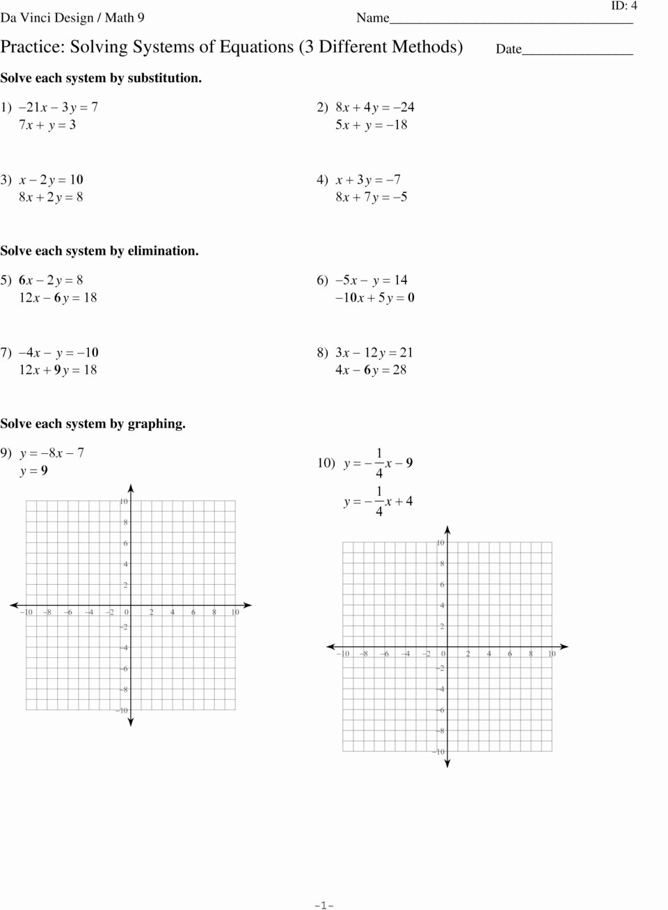 Solving Systems by Graphing Worksheet Awesome 2 4 Practice Writing Linear Equations Glencoe Algebra