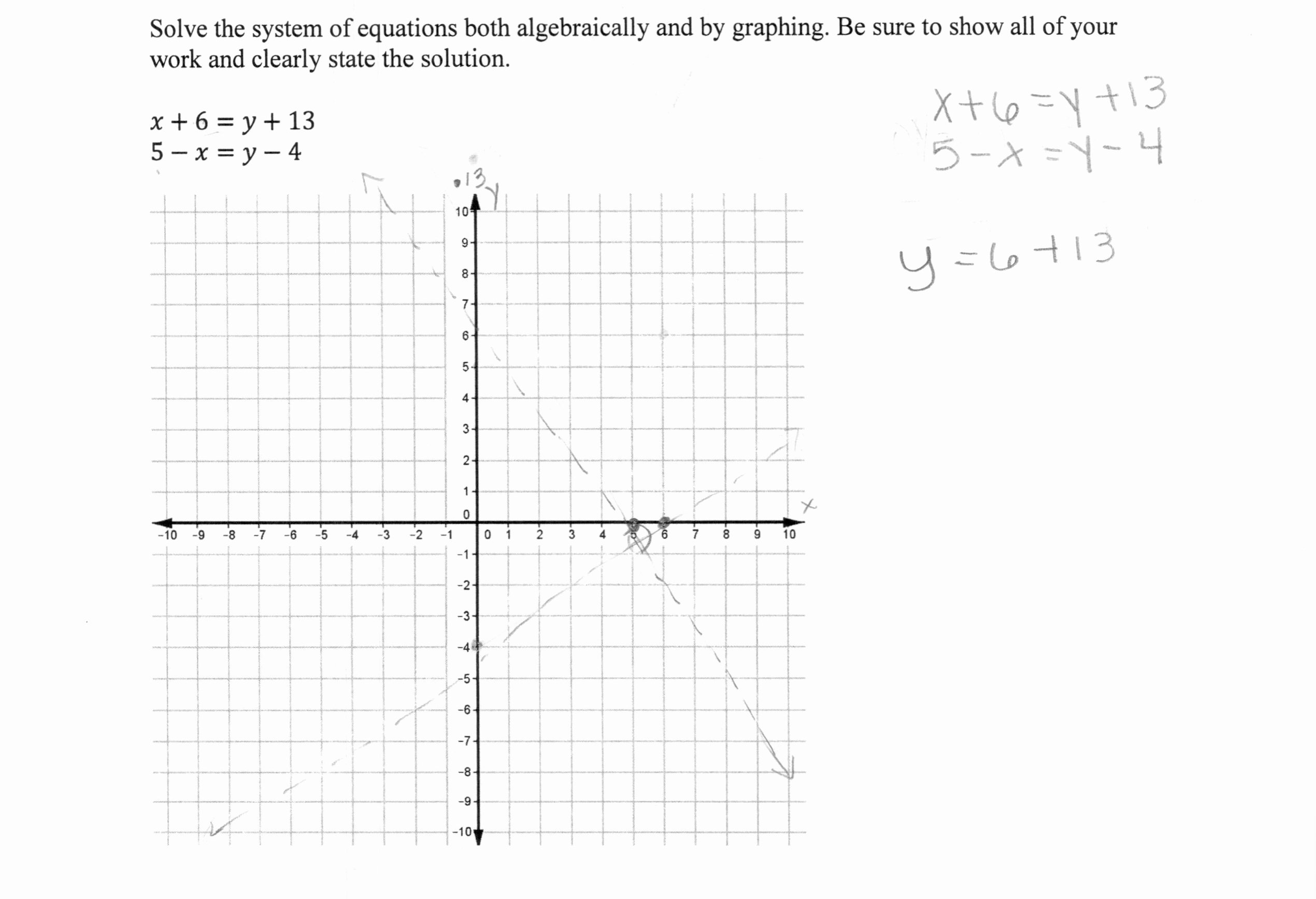 Solving Systems by Graphing Worksheet Awesome solving A System Of Equations 2