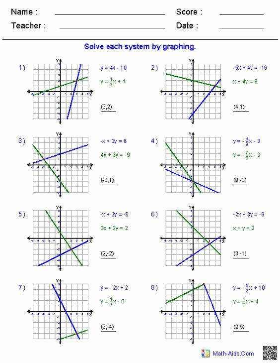 Solving Systems by Graphing Worksheet Elegant Graphing Systems Equations Worksheet