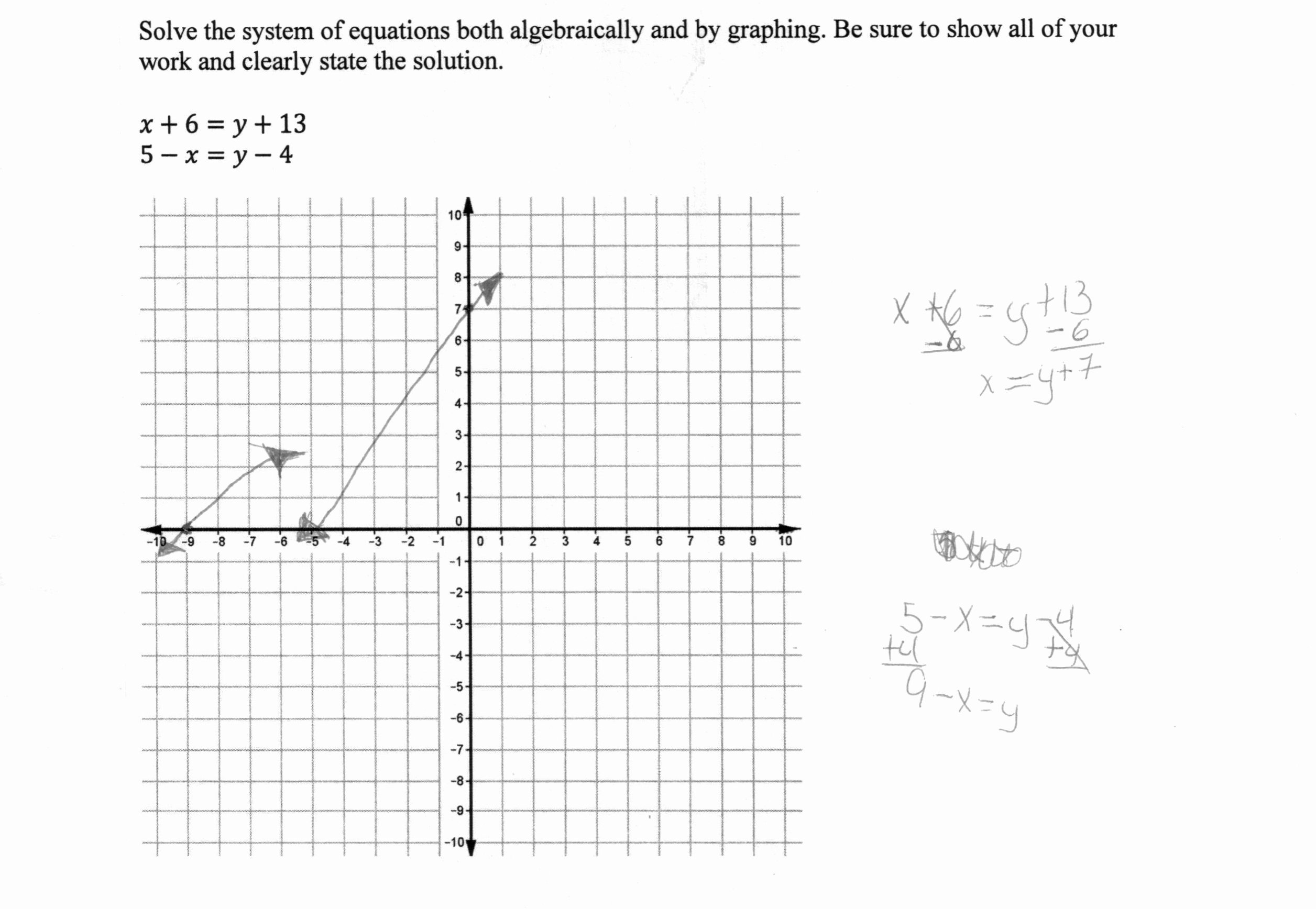 Solving Systems by Graphing Worksheet Inspirational solving A System Of Equations 2