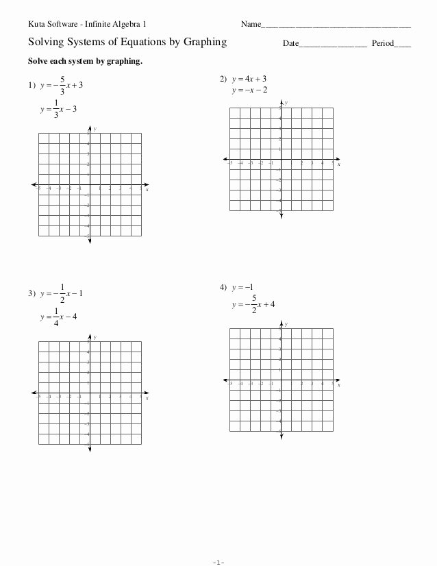 Solving Systems by Graphing Worksheet Luxury solving Systems Linear Equations Graphing Worksheet