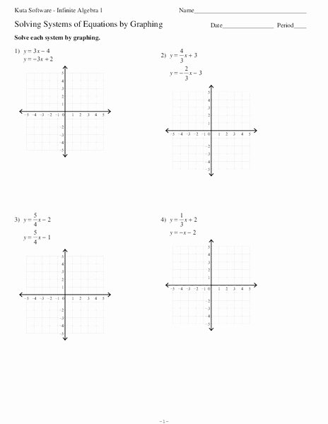 Solving Systems Of Equations Worksheet Beautiful solving Systems Of Equations by Graphing Worksheet for 9th