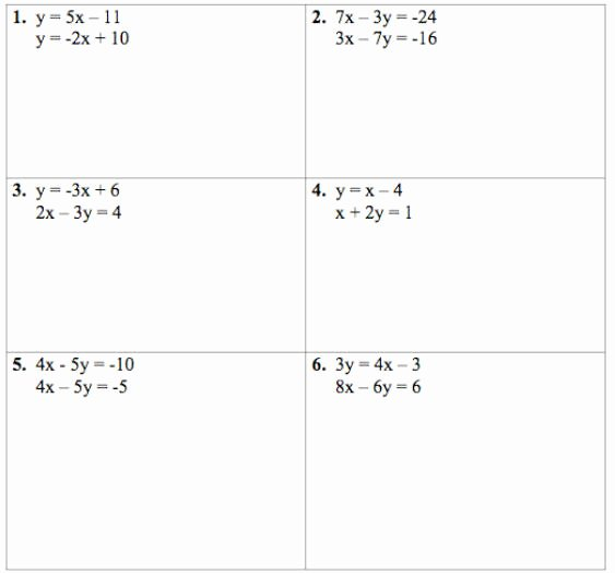 Solving Systems Of Equations Worksheet Elegant solving Systems Of Equations 2