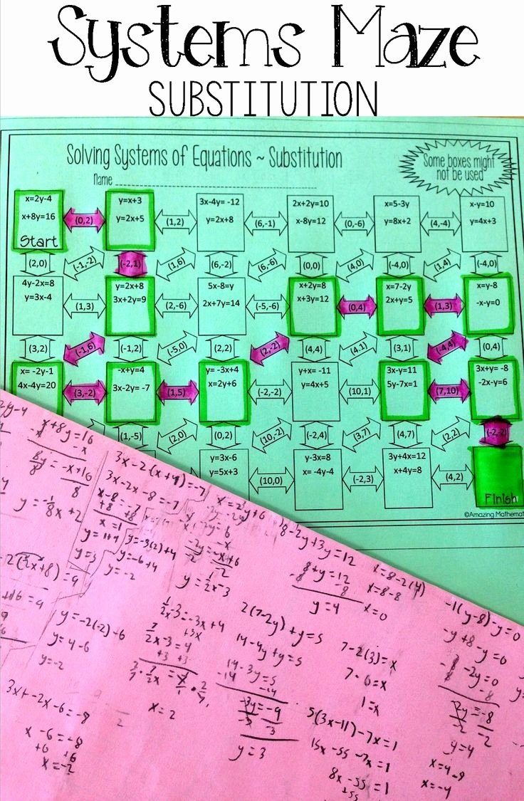 Solving Systems Of Equations Worksheet Fresh 25 Best Ideas About Algebra 1 On Pinterest
