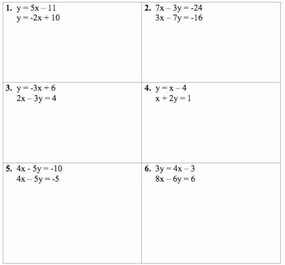 Solving Systems Of Equations Worksheet New solving Systems Equations by Elimination Worksheet