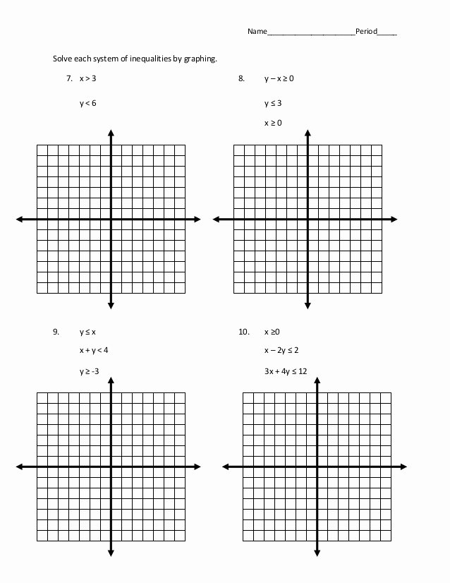 Solving Systems Of Inequalities Worksheet Elegant 7 6 Systems Of Inequalities Word Problems