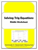 Solving Trig Equations Worksheet Fresh Precalculus Teaching Resources & Lesson Plans