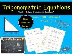 Solving Trig Equations Worksheet New Trigonometric Equations Part 1 solving Trig Equations