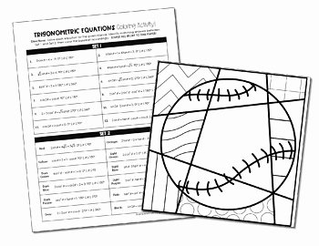 Solving Trigonometric Equations Worksheet Answers Lovely Trigonometric Equations Coloring Activity by All Things