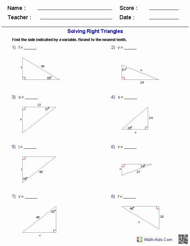 Solving Trigonometric Equations Worksheet Answers Unique Algebra 1 Worksheets