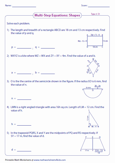 Solving Two Step Equations Worksheet Beautiful Multi Step Equation Worksheets