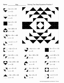 Solving Two Step Equations Worksheet Unique 12 Best Of E Step Equations Coloring Worksheet