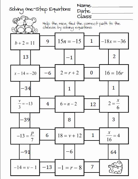 Solving Two Step Equations Worksheet Unique October 2015