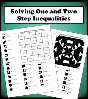 Solving Two Step Inequalities Worksheet Best Of solving E and Two Step Inequalities Color Worksheet by