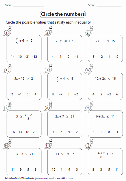 Solving Two Step Inequalities Worksheet Best Of Two Step Inequalities Worksheets