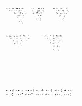 Solving Two Step Inequalities Worksheet Lovely solving Multi Step Inequalities Joke Worksheet with Answer
