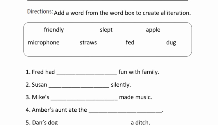 Sound Devices In Poetry Worksheet Lovely Downloadable Template Of Writing Alliteration Worksheet