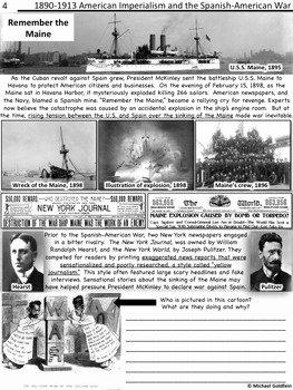 Spanish American War Worksheet Awesome Spanish American War and American Imperialism by History