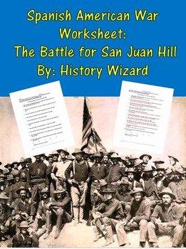 Spanish American War Worksheet Best Of Spanish American War Worksheet the Battle for San Juan