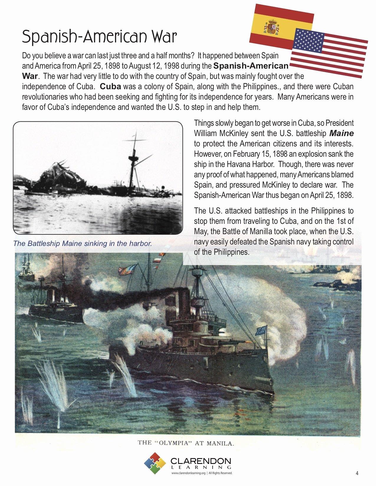 Spanish American War Worksheet Fresh Spanish American War Lesson Plan