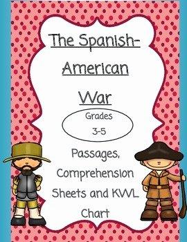 Spanish American War Worksheet Inspirational the Spanish American War Reading Passages by social
