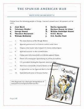 Spanish American War Worksheet Lovely American Imperialism Worksheets Set 2 the Spanish