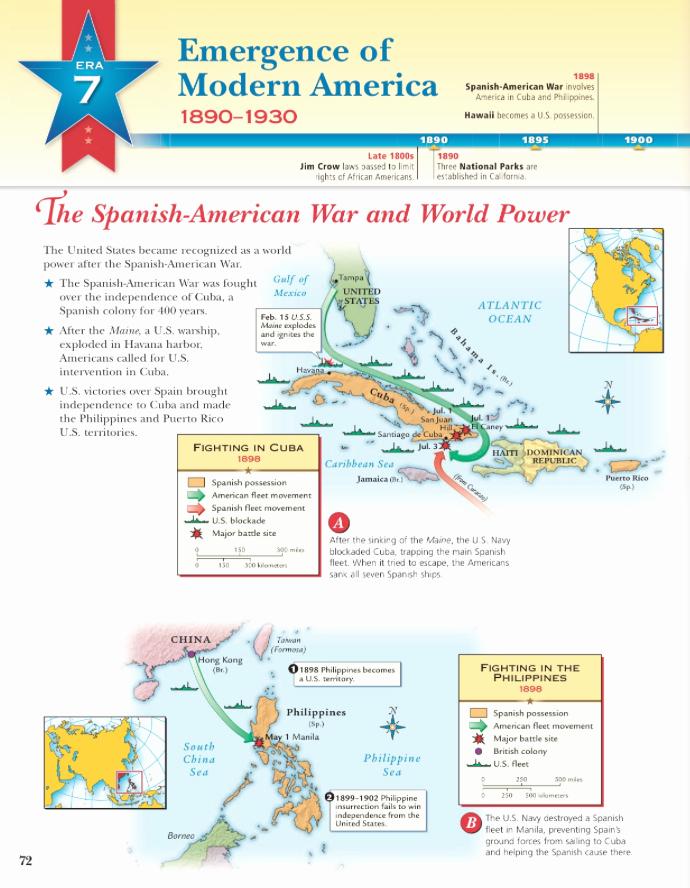 Spanish American War Worksheet Lovely the Spanish American War and World Power Era 7 38a Mr