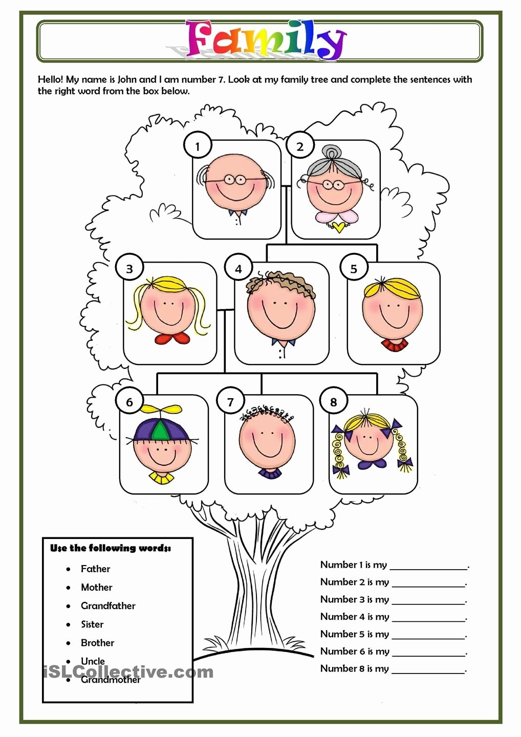 Spanish Family Tree Worksheet Awesome Family Spanish Familia Unit