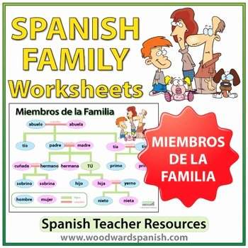 Spanish Family Tree Worksheet Best Of Spanish Family Tree Worksheets by Woodward Education