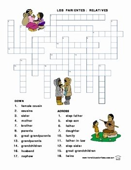 Spanish Family Tree Worksheet Best Of Spanish Family Vocabulary Worksheets by Fran Lafferty
