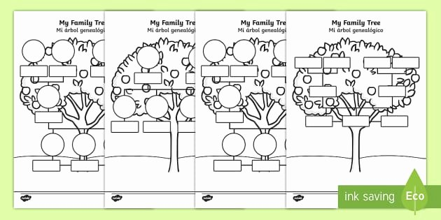 Spanish Family Tree Worksheet Elegant My Family Tree Worksheet Worksheets English Spanish