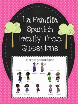 Spanish Family Tree Worksheet Fresh La Familia Spanish Family Tree Questions Worksheet by