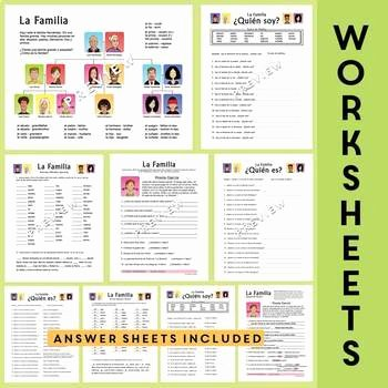 Spanish Family Tree Worksheet Fresh La Familia Spanish Family Unit Family Tree Worksheets
