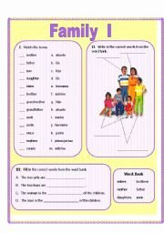 Spanish Family Tree Worksheet Fresh This is A Worksheet About Family Vocabulary Genitive Case